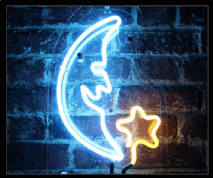 MOON & STAR Neon Sign